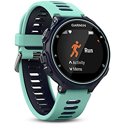 Garmin Forerunner 735XT GPS Running Watch - Midnight Blue (010-01614-01) w/Accessories Bundle Includes, Extreme Speed Charging Clip, Universal USB Travel Wall Charger & 1 Piece Micro Fiber Cloth