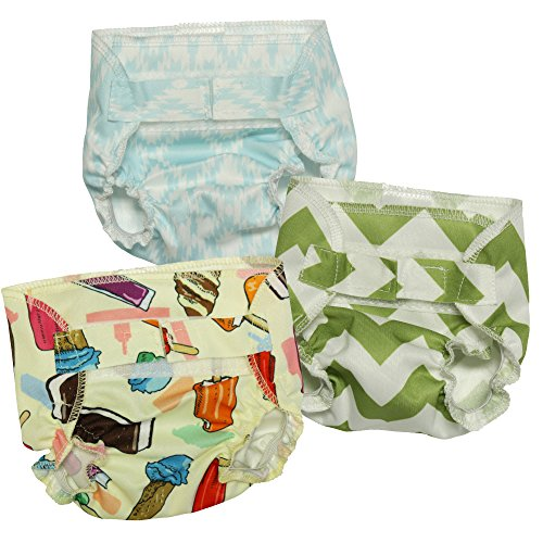 Nicki's Diapers Doll Diaper 3 Pack - Girl (Bitty Baby Cloth)