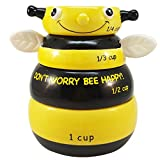 Bumble Bee Kitchen Decor Adorable Stackable Bumble Bee Measuring Cup Set of 4 Creative Kitchen Decor