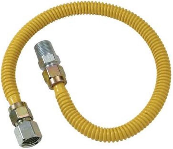 BrassCraft CSSB21-12 ProCoat 3//4 FIP x 3//4 MIP x 12 Stainless Steel Gas Connector 3//4 I.D. 290,900 BTU