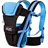 GearBest 4-in-1 Convertible Backpack Baby Carrier with Buckle Mesh Wrap, Comfortable for Newborns and Toddlers - Blue