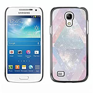 Be Good Phone Accessory // Dura Cáscara cubierta Protectora Caso Carcasa Funda de Protección para Samsung Galaxy S4 Mini i9190 MINI VERSION! // Universe Mysterious Cosmos Stars Lines