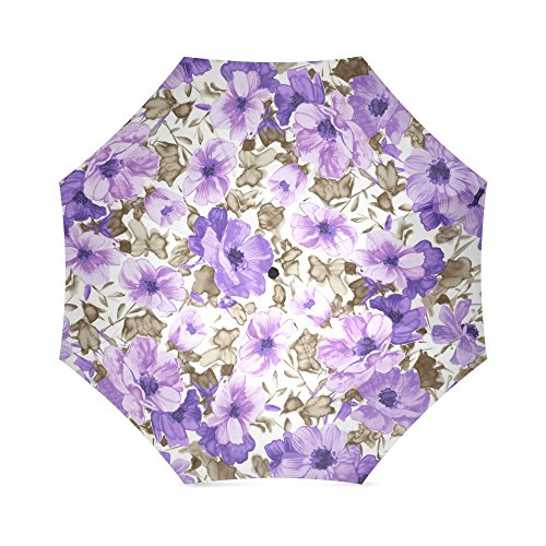Christmas Gifts Girls/Women Umbrella Floral Flowers Foldable Sun/Rain Umbrella Sunshade Parasol