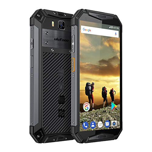 "Ulefone Armor 3 IP68 Waterproof Unlocked Cell Phone, Android 8.1 Rugged Smartphone 10300mAh Battery, Dual 4G Global Band, 5.7"" FHD+, Octa Core 4GB + 64GB, Compass+GPS, Shockproof, Dustproof (Black)"