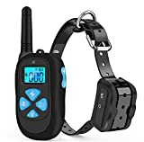 IOKUKI Dog Training Collar with Remote 1500ft Range,[2018 Upgraded] Rechargeable Waterproof Dog Bark Collar with Beep Vibration Shock,Dog Shock Collar for Small Medium Large Dogs