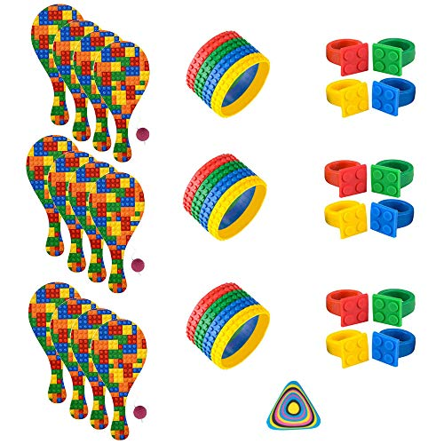 36 PC Building Block Brick Party Supplies and Party Favors]()