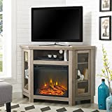 Home Accent Furnishings New 48 Inch Corner Fireplace TV Stand - Grey Wash Finish