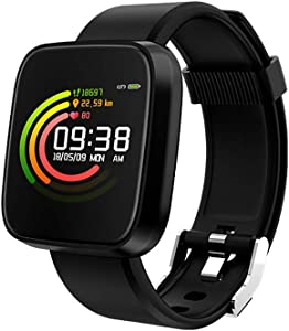 XHN Smart Wristbands Watch Fitness Tracker Smart Watch with Sleep Monitor, Bluetooth Smart Wristband for Android and iOS-Black