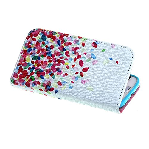 Cute Colorful Balloons Printed Style Protection Premium PU Leather Shell Folio [Wallet Magnetic] Button Flip [ Case Cover ] Skin for Samsung Galaxy S4 SIV i9500 + Screen Protector + Touch Stylus