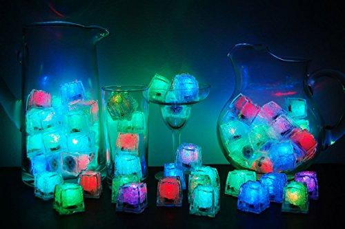 Set of 96 Litecubes Brand 8 Mode MultiColor RAINBOW Light up LED Ice Cubes by LiteCubes