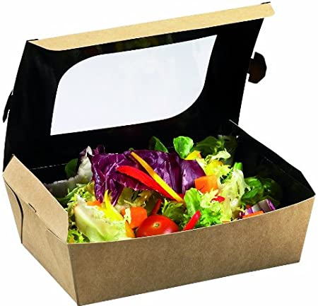 Caja para Snacks con Ventanilla. Dimensiones: 10.5 x 10 x ht 5.5 cm: Amazon.es: Hogar