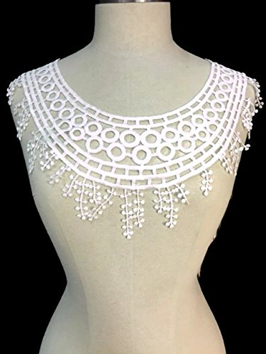 Lace Applique Neckpiece Egyptian Design Yoke Embroidery Collar Motif, 10