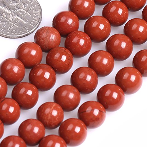 Gemstone Rust (GEM-inside Red Jasper Gemstone Loose Beads Natural Round 8mm Energy Stone Healing Power for Jewelry Making 15'')
