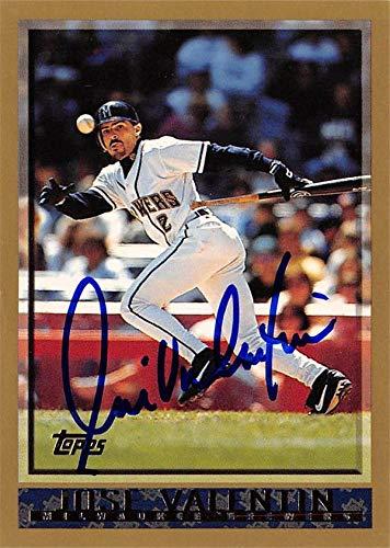 Valentin Baseball Cards - Jose Valentin autographed Baseball Card (Milwaukee Brewers, SC) 1998 Topps #158 - Baseball Slabbed Autographed Cards