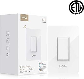 Sunbrave 3 Way WiFi Smart Wall Light Switch w/ Alexa & Google Home
