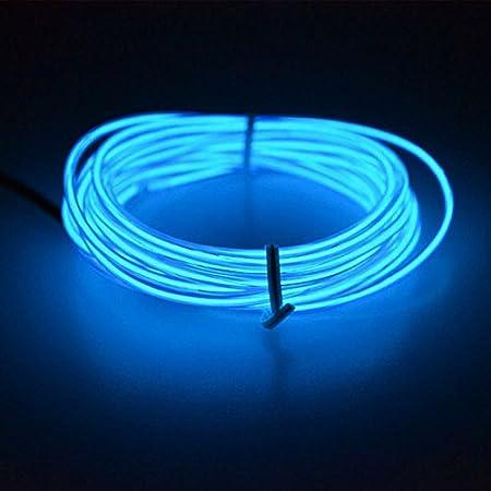 CALISTOUS 1M Flexible LED Light Glow EL Wire String Strip Rope Tube Car Christmas Party Decor Blue