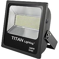 Titan Lighting Bronze Frameless 200W Led Flood Lights