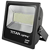 Titan Lighting Bronze Frameless 200W Led Flood Lights, 400W HPS/HID Replacement, 17000LM, 6000K Day Light, Waterproof, 120-277V, Instant on