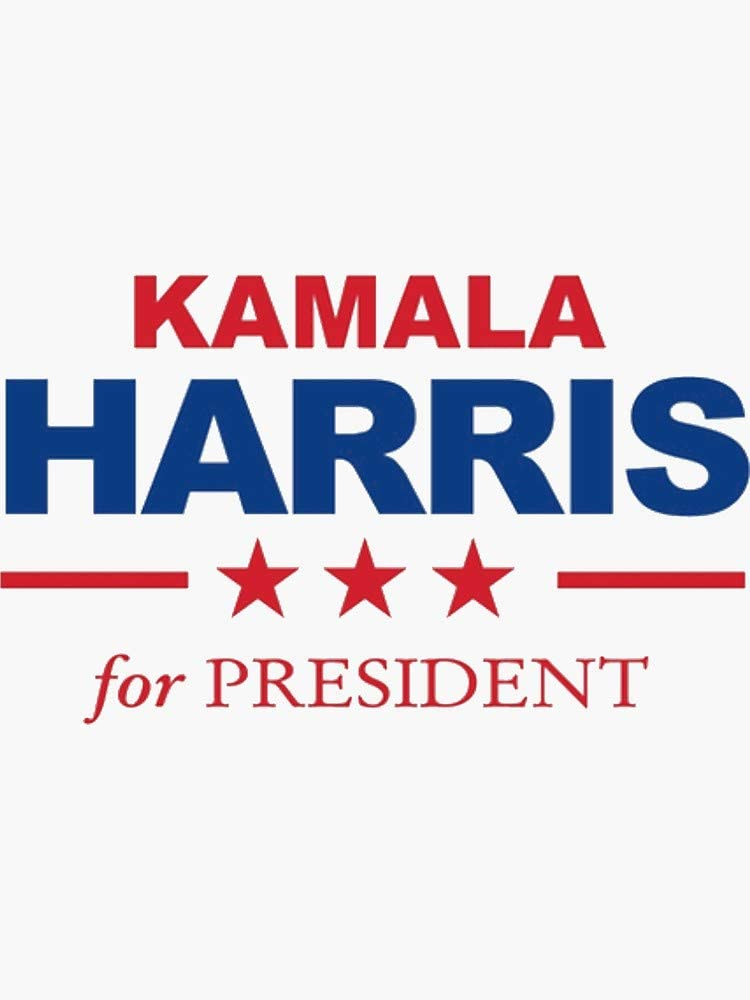 "Kamala Harris For President 2020 Navy Blue Bumper Sticker 8.7/"" x 3/"" Decal"