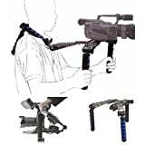 Handy Shoulder Steady Support Rig Stabilizer Kit for Camcorder Canon VIXIA HF R300, R20, R21, S10, S100, M50, M40, M41, M400, M500, M300, G10, HV40, HV20, HV30, HF200, HF20, HF10, HF100, HG20, HG10 , Elura 100, FS300, FS200, FS100, FS10, ZR850, ZR800, GL3