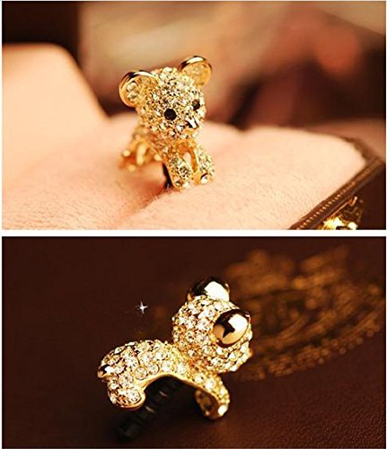 Dust Charm Gold Lion Cub W/Crystals