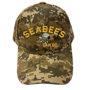 Military SEABEES Can do logo Digital Camo Baseball Cap Hat from Military