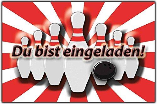 EInladungskarten Kindergeburtstag Bowling Kinderparty Mit Text 8 Stück:  Amazon.de: Bürobedarf U0026 Schreibwaren