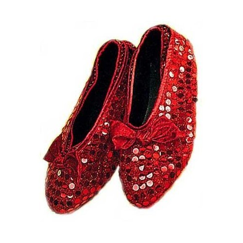 Dorothy Sequin Ruby Shoe Covers