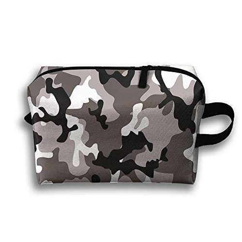 DTW1GjuY Lightweight And Waterproof Multifunction Storage Luggage Bag Black Grey White Camo by DTW1GjuY