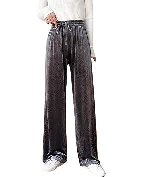 GladiolusA Mujer Pantalones De Chándal Largos Terciopelo Cintura ...