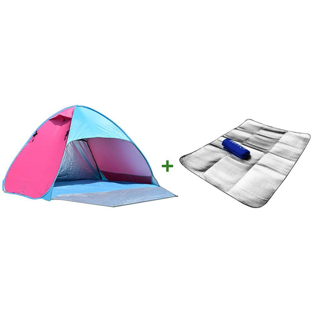 WZFC Pop Up Zelt, 3-4 Personen Automatisches Wasserdichte Familie im Freien Zelt für Schnellöffnungs,für Strand, Camping, Wandern