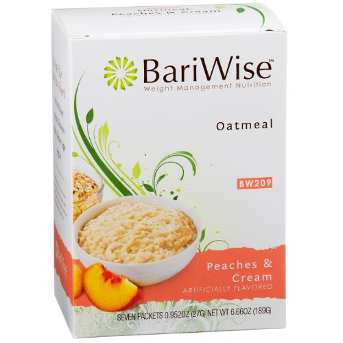 Diet Cereal (BariWise Low-Carb High Protein Oatmeal / Instant Diet Hot Oatmeals - Peaches & Cream (7 Servings/Box) - Low Carb, Low Calorie, Low Fat, Aspartame Free)