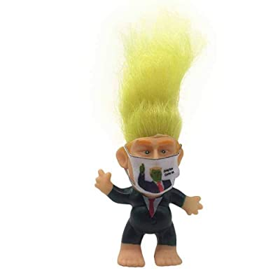 UX Wear Mask President Trump Troll Doll,Hair to The Chief Trolls Toys Will Make Your Desk Great Again: Toys & Games
