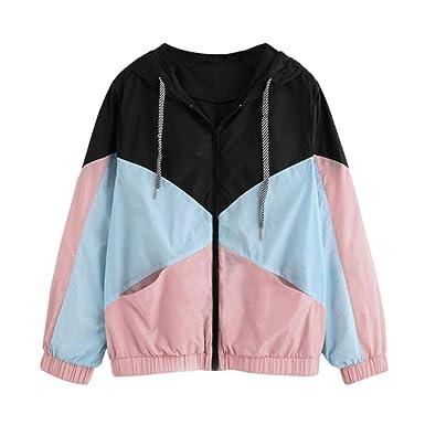 Warme Damen Frauen Jacke Mantel Langarm Patchwork Mit Kapuze Polyester Kleidung Zipper Taschen Casual Sport Mantel Herbst Outwear