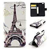 """Lowpricenice(TM) Fashion Magnetic Flip Wallet Case For """"iPhone 6S"""" Elegant Stylish Faux Leather phone Case Cover (Paris Eiffel Tower)"""