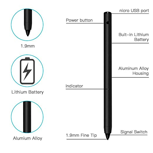 LUXACURY - Lápiz Capacitivo para iPad, iPhone, Samsung, Smartphone, Tablet, Pantalla táctil: Amazon.es: Electrónica