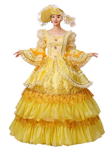 Zukzi Women's Flare Sleeve Fairy Godmother Costume with Free Petticoat, US 10, Blue by Zukzi