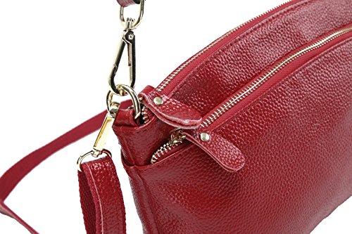 Bolso De Cuero Yy.f Primera Capa De Bolsos De Piel Moda Salvaje Bolsas Bolsos De Moda Bolsos De Las Señoras Bolso De Hombro De Las Señoras Impermeables Bolso Red