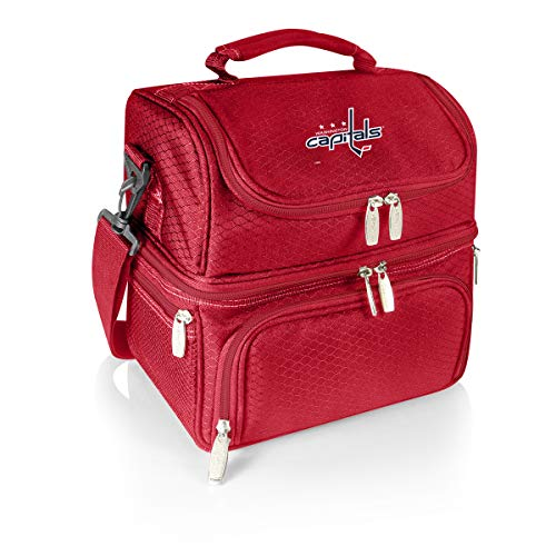 (PICNIC TIME NHL Washington Capitals Pranzo Insulated Lunch Tote with Service for One, Red)