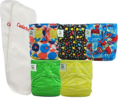 Coolababy Reusable Adjustable Washable Diapers product image