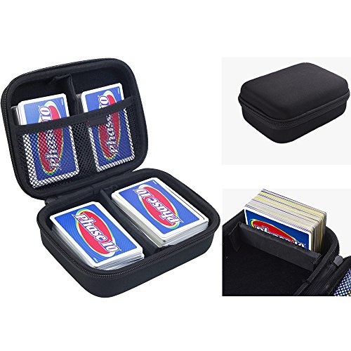 ANTS Hard Case for Phase 10 Card Game. Fits up to 360 Cards. Includes 2 Removable Divider