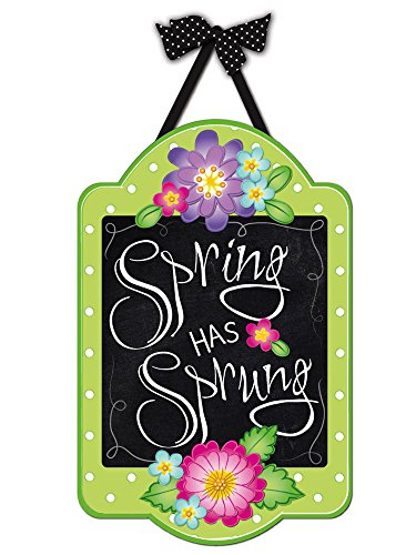 Evergreen Spring Has Sprung Outdoor Safe Felt Door Decor (Door Spring Hangers)