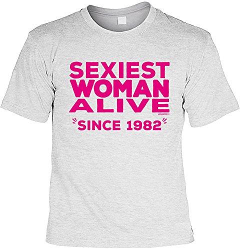 T-Shirt - Sexiest Woman Alive - Since 1982 - lustiges Sprüche Shirt als Geschenk zum 35. Geburtstag