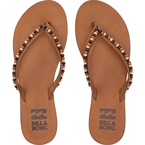 Billabong Women's Perla Flat Sandal, Espresso, 7 M US