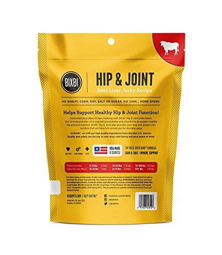 Bixbi Hip & Joint Dog Jerky Treats, Beef Liver, 5 Ounce