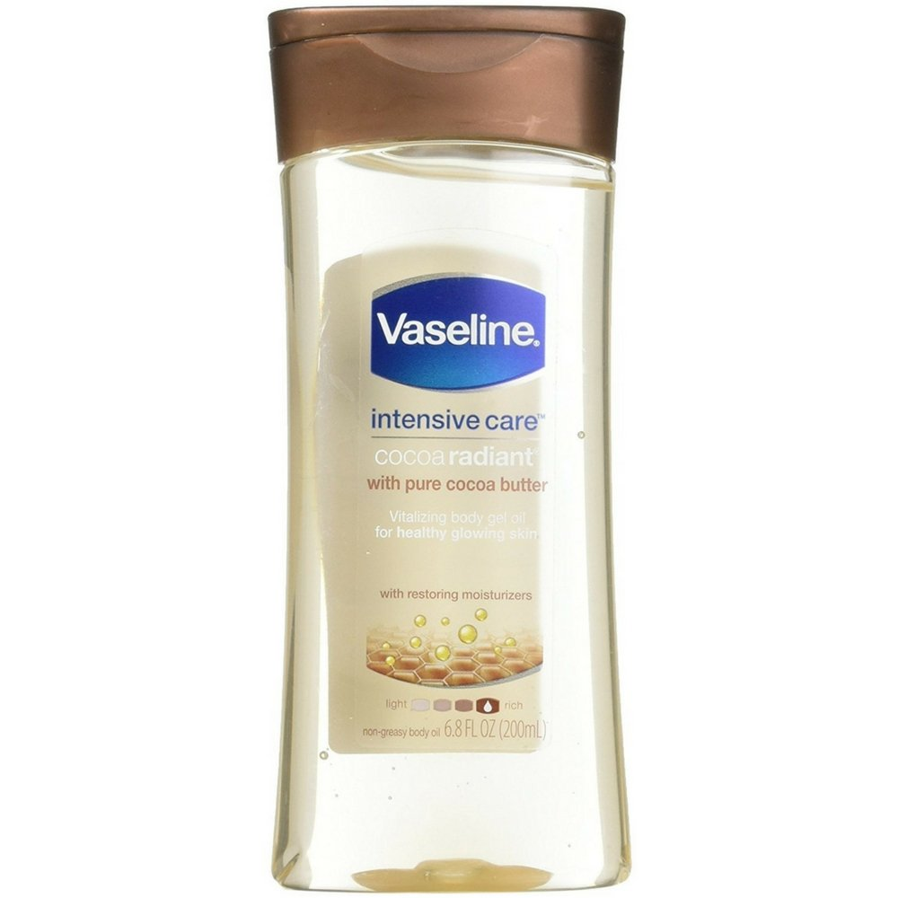 Vaseline Intensive Care Cocoa Radiant Body Gel Oil, 6.8 Ounce