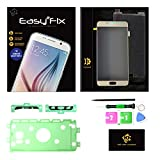 KR-NET Easy2Fix LCD Screen Touch Digitizer Assembly Replacement Tool Kit + Pre-Cut adhesive Sticker for Samsung Galaxy Note 5 N920 N920A N920P N920T N920V (Gold Platinum)