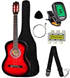 red acoustic guitar - Crescent MG38-RD 38