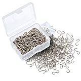 Arts & Crafts : Shappy 200 Pieces 0.55 Inch Mini S Hooks Connectors S-shaped Wire Hook with Storage Box for DIY Crafts, Hanging Jewelry, Key Chain, Tags