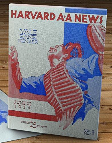 1934 Vintage Harvard - Yale Baseball Program - Canvas Gallery Wrap - 12 x 16